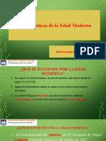 CARACTERISTICAS DE EDAD MODERNA2020