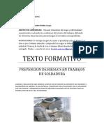 Texto formativo soldadurA