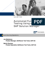 ULM150+ +Automated+Functional+Testing+Using+eCATT+in+SAP+Solution+Manager