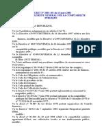DECRET  2003.101portant réglement sur comptabilité publique