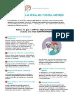 SEP COVID19-Salud Mental personal sanitario