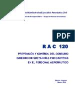 RAC  120 - Prevención y control consumo sustancias psicoactivas personal aeronáutico.pdf