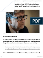 Call for investigation into Bill Gates 'crimes against humanity' and 'medical malpractice' - Muslim Mirror