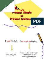 Presentation Present Simple-Present Continuous