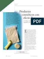 Productos cosmeticos con efecto Botox