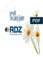 Presentation - RDZ ceiling&walls cooling-heating systems