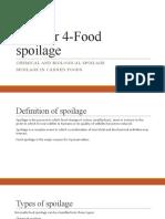 Unit 4 Food spoilage