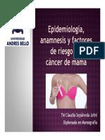 EPIDEMIOLOGÍA, ANAMNESIS Y FACTORES DE RIESGO DEL