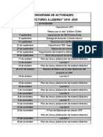 CRONOGRAMA DE ACTIVIDADES TES
