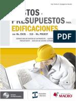 COSTOS Y PRESUPUESTOS PARA EDIFICACIONES CON EXCEL, S10 Y PROJECT-EDITORIAL MACRO