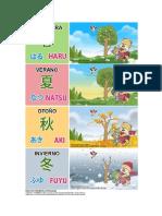aprender las estaciones en japones