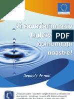 Să contribuim activ la dezvoltarea comunității noastre - broșură civică