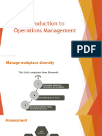 Session 1 Introduction to Operations Management