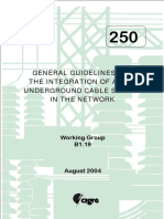 250 General Guidelines For The Integration Of A New Underground Cable System In The Network