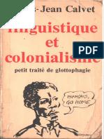 CALVET_Linguistique et Colonialisme Petit Traité de glottophagie
