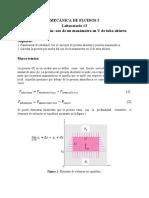 Lab #2 Cálculo de presión, uso de manómetro en U