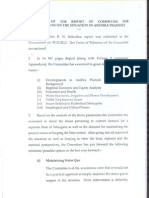 Summary of the Srikrishna Committee report