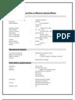 Curriculum Vitae of Moekestsi Samson Mohapi