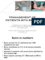 Management of patients with burns