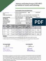 Column core test report