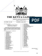 Kenya Gazette Vol. 100 31-5-20 Special Issue (National Honors)