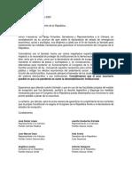 Carta Solicitud Presidente de la República Funcionamiento y Operación Congreso Digital
