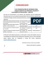 Comunicado Plazos de Presentacion de Formatos 3 y 4 (1)