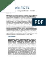 CEst. Sentencia 23773_Febrero 12, 2020 - ICA actividad comercial