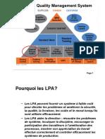 LPA - Layer Process Audit guidelines
