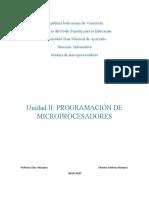 PROGRAMACIÓN DE MICROPROCESADORES