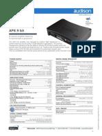 AUDISON Prima AP8 9 Bit Tech Sheet