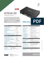 Audison Forza Apf8.9bit-24v Tech-sheet 2019