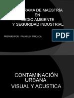 Contaminacion urbana visual y acustica