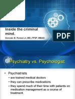 Lecture 11 - Inside the criminal mind