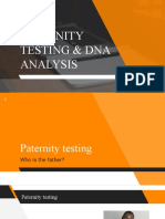 Lecture 10 - DNA and Paternity testing