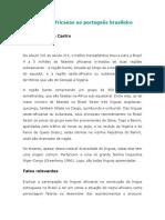 Castro Y. - Das línguas africanas ao português brasileiro.doc