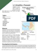 Frontera entre Colombia y Panamá - Wikipedia, la enciclopedia libre