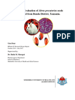 Toxicity Evaluation of Abrus precatorius seeds collected from Bunda District, Tanzania.