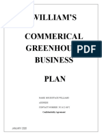 Williams greenhouse business Plan  2020
