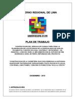 PLAN DE TRABAJO DE ESTUDIO DE SUELOS Y PAVIMENTOS