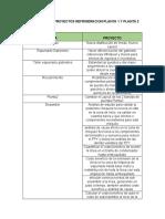 PROPUESTAS DE PROYECTOS REFRIGERACION PLANTA 1 Y PLANTA 2