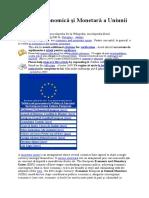 Uniunea Economică şi Monetară a Uniunii Europene