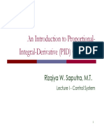 Lecture I - Introduction to PID Control System