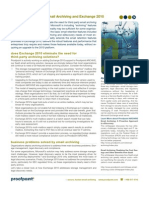 DS Proof Point Email Archiving and Exchange 2010 TechBrief