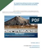 TEIDE MÉXICO, NACIMIENTO,EVOLUCIÓN Y MUERTE DEL ART.41; LA INANICIÓN DE LA EDUCACIÓN ESPECIAL EN MÉXICO