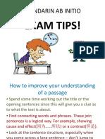 Mandarin AB EXAM TIPS