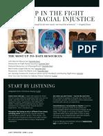 Black Lives Matter Newsletter