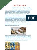 HISTORIA DEL ARTE DIBUJO