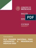 Convocatoria Enarm México 2020