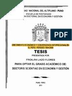 Tesis - crecimiento economico y convergencia interrelacional en el peru periodo 1994-2009 - revizada.pdf